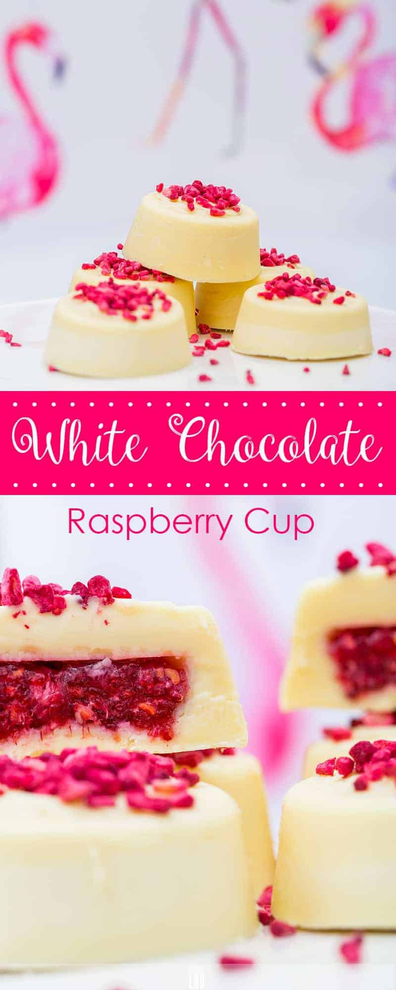 Low-Carb White Chocolate-Raspberry Cups