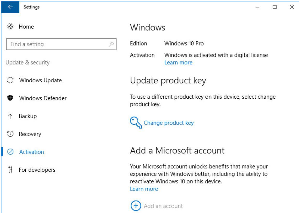 Make sure Windows 10 is turned on