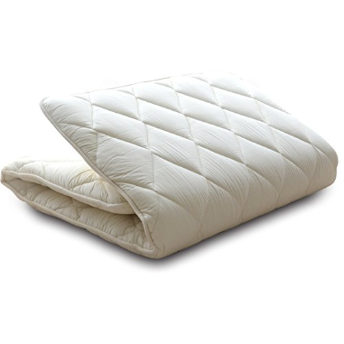 Mattress EMOOR Japanese Traditional Futon Class (39 x 83 x 2.5 inches), Double size, made in Japan