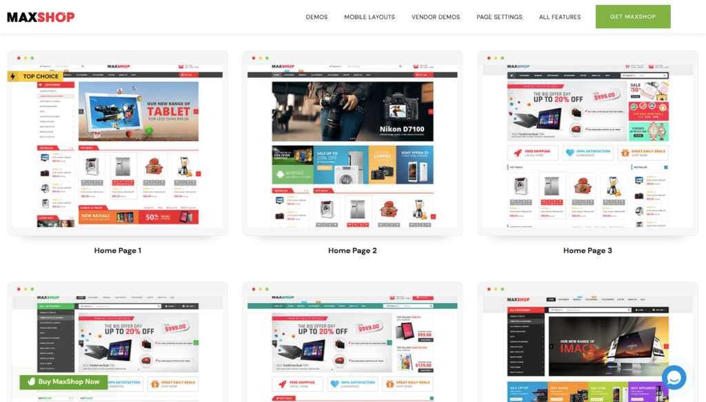 max-shop-e-commerce element or theme .