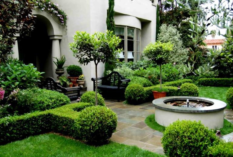 modern front garden landscape