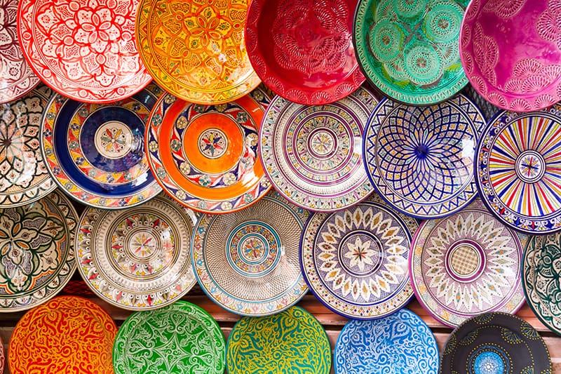 Moroccan handicraft and decoration