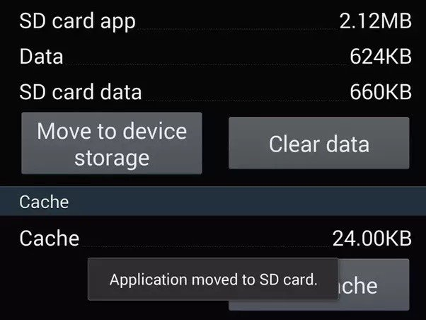 Move applications from SD to internal storage on Android