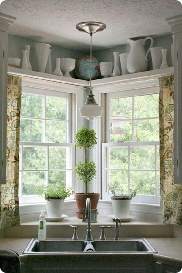 Natural Corner with double hanging sink (from centsationalstyle.com)