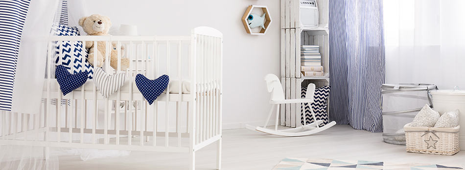 Nautical-themed cot