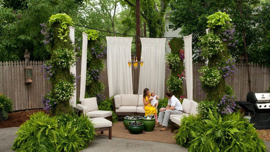 Outdoor Privacy Screen for Hanging Do-it-yourself (par. southliving.com)