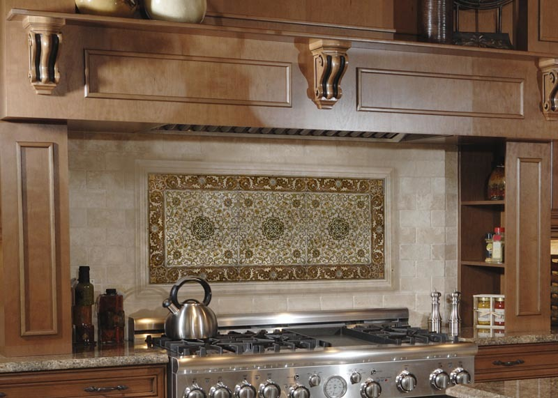 Patterned tiles for the kitchen