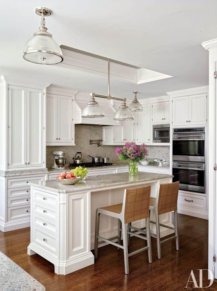 Penthouse White Kitchen (from architectdigest.com)