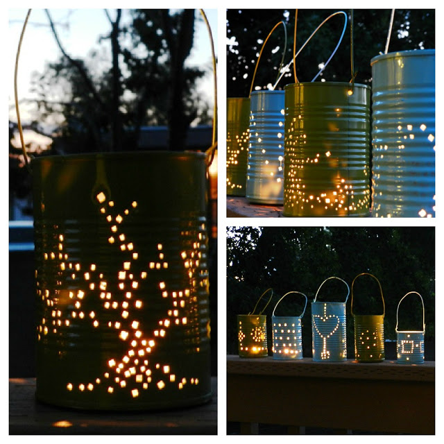 Pewter lanterns for do-it-yourself use