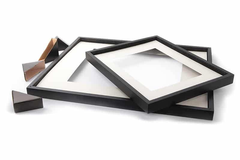 Photo frame with passe-partout
