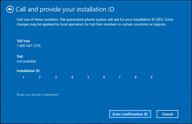 Provide an installation ID