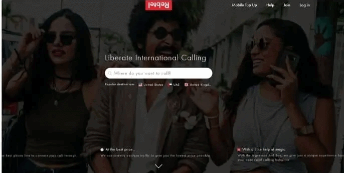Rebtel for international calls without internet and smartphone