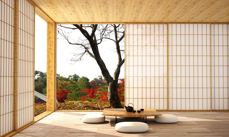 Replace your interior doors with shoji screens