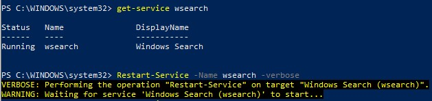 Restarting the Powerhell research service