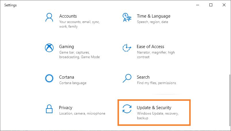 Restore Windows -- Windows 10 - Settings - Update and security -- Windows Wally