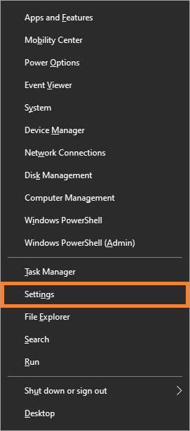 Restore Windows - Windows 10 - Windows Key + X - Settings - Windows Wally