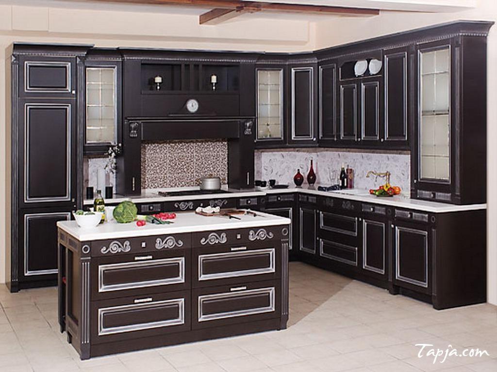 Rustic, dark and minimalistic kitchen design