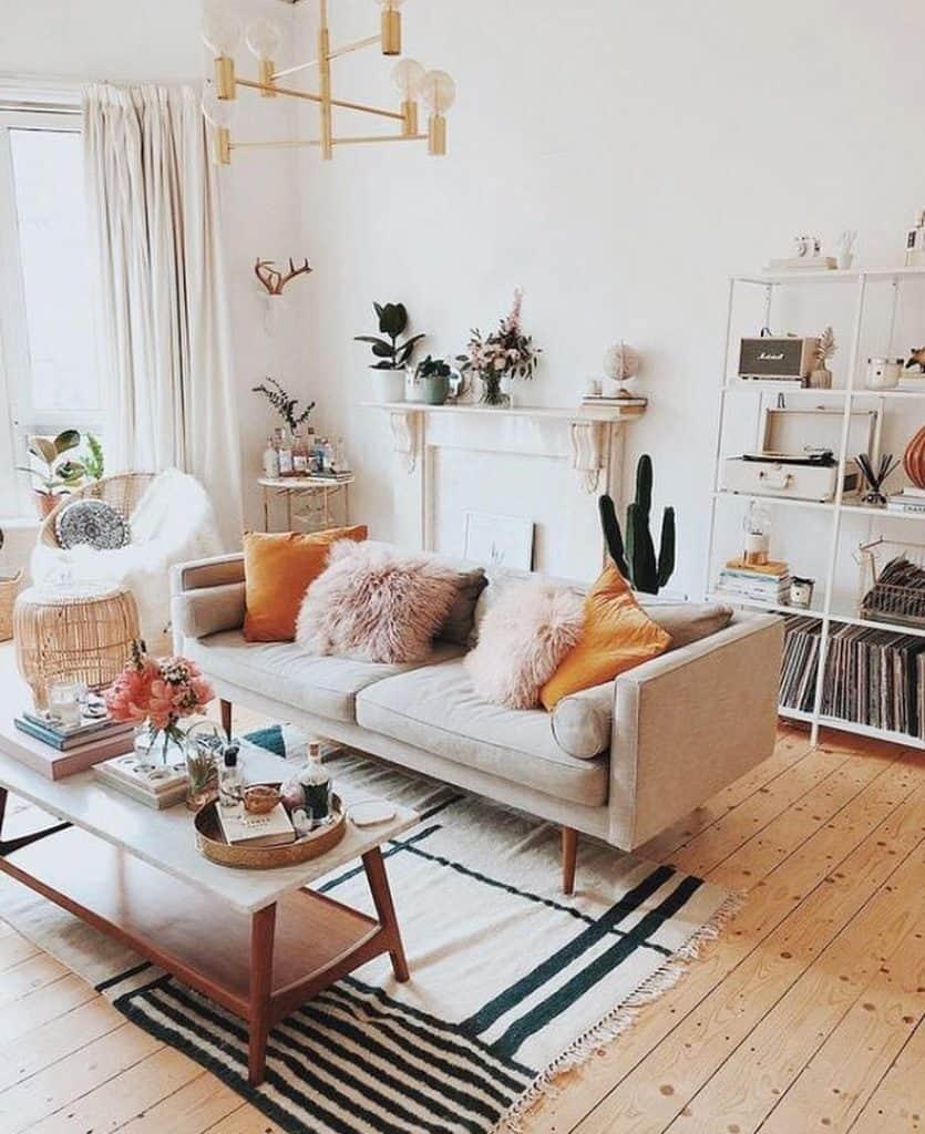Scandinavian Eclectic Salon (par. @eclectic_goods)