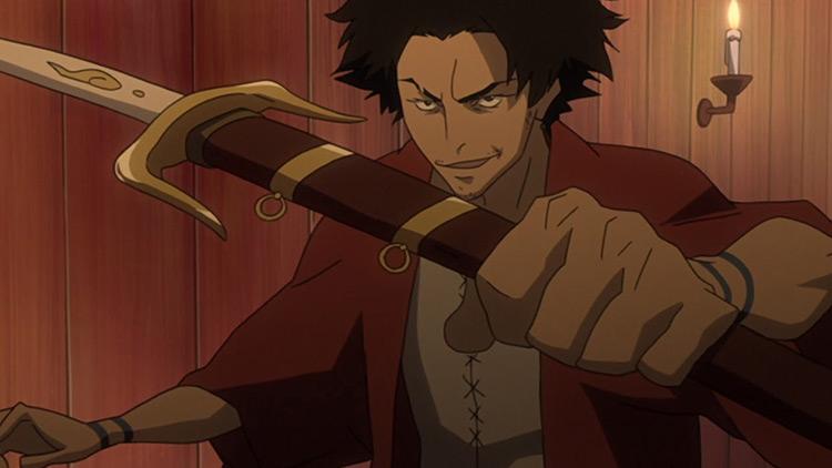 Screenshot of the anime Mugen Samurai Champloo