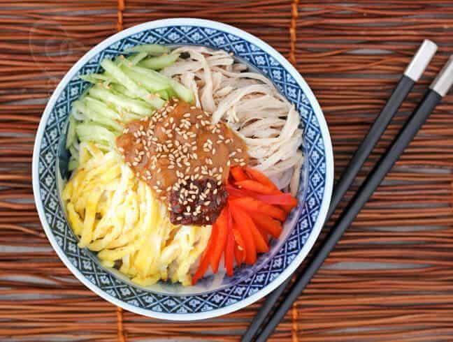 Sesame chicken noodles.