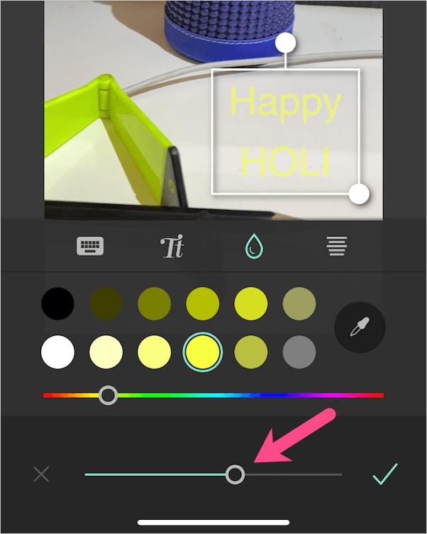 sets the color transparency in pixel