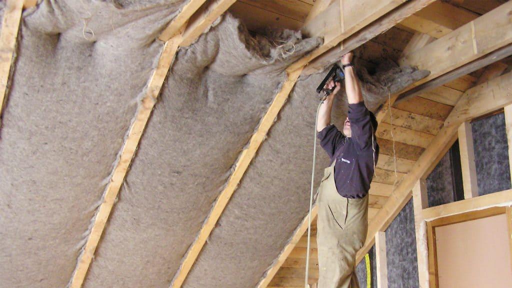 Sheep wool insulation