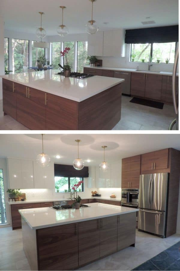 Smooth and elegant kitchen (by. inspkitchendesign.com)