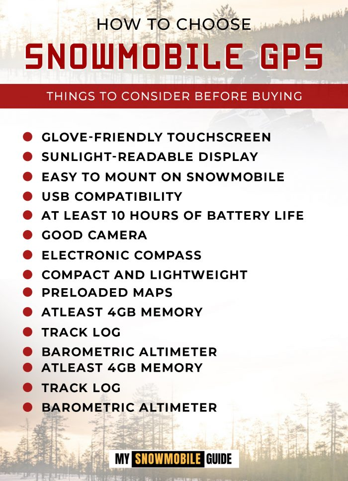 Snowmobile GPS Purchase guide