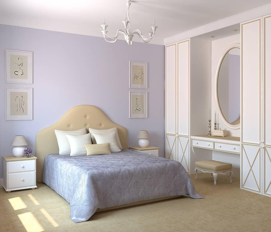 Soft violet for contrast