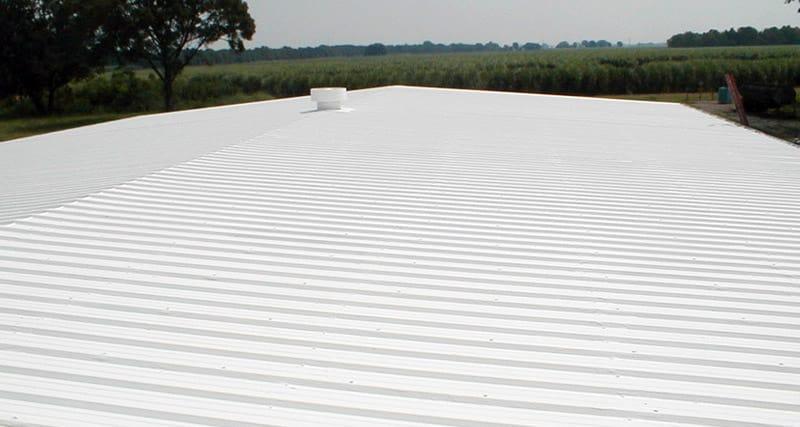 Sprayed foam roof