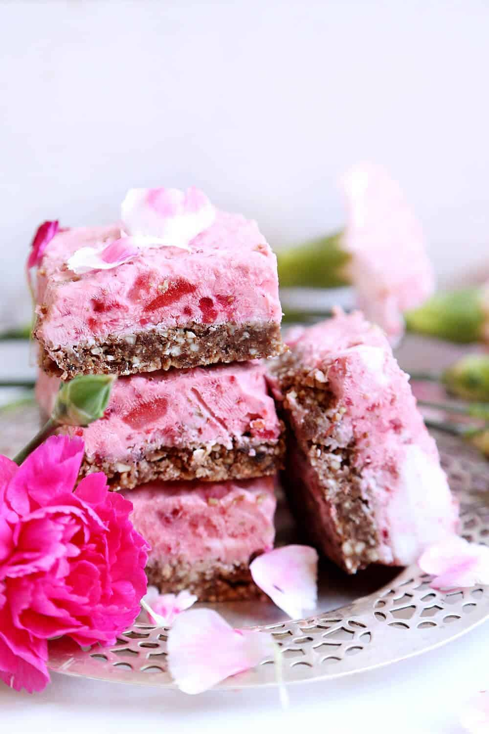 Strawberry Raspberry Ice Cream Bars