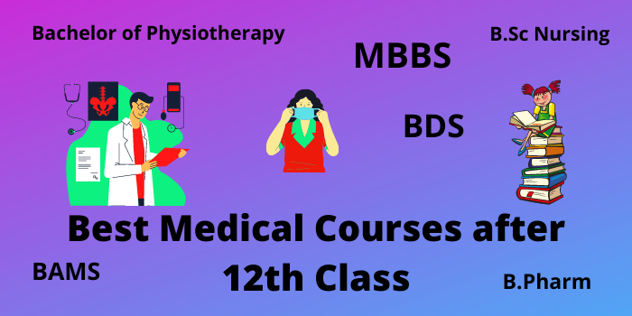 The best list of medical courses for students over 12 years old.