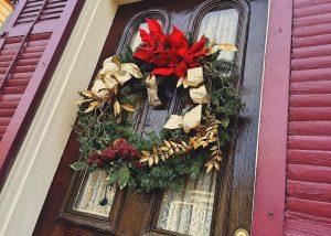 The grain of the front door