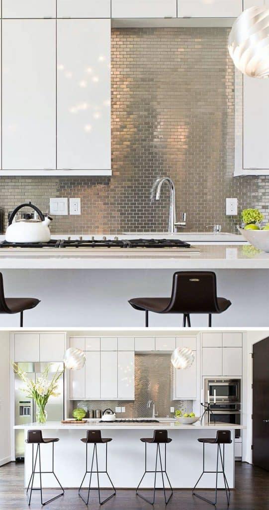Tile carpet in a modern kitchen (by contourinteriordesign.com)