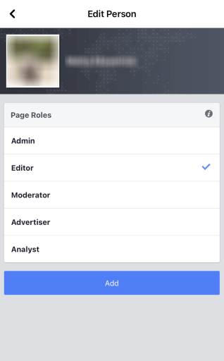 To add an administrator to a Facebook page