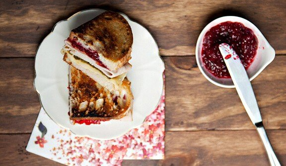 Turkey, Cranberry and Green Tea Sandwich