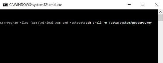 Use the ADB to delete the password file to remove the Samsung screen lock.