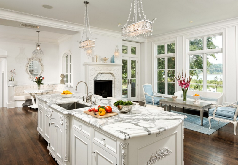 Victorian style kitchen with luxurious details and finishes