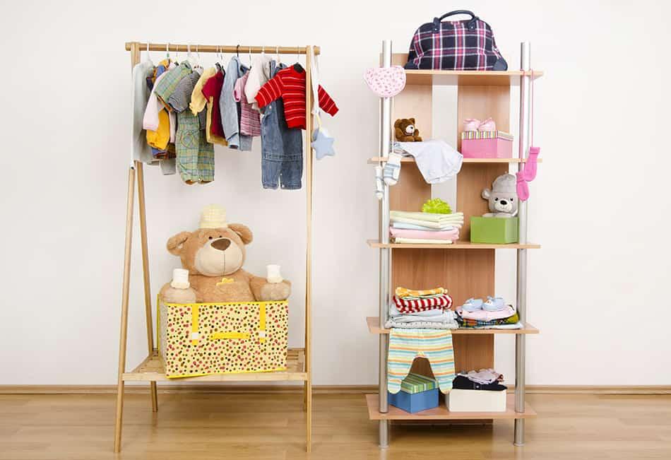 Wardrobe and shoe rack.