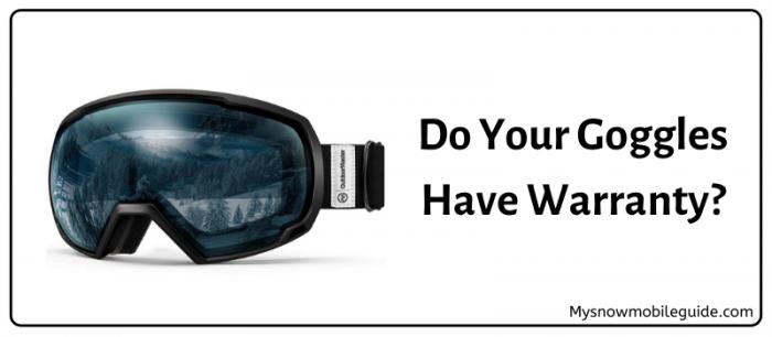 Warranty period for swimming goggles