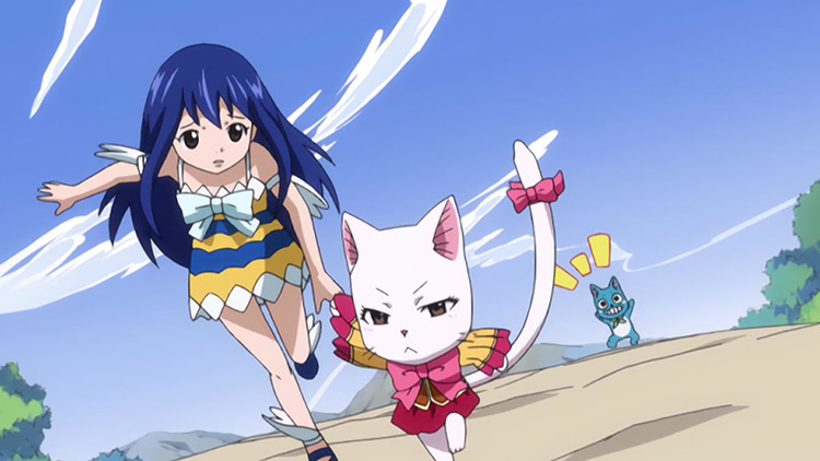 Wendy Marvell in the anime Fairy Tail.