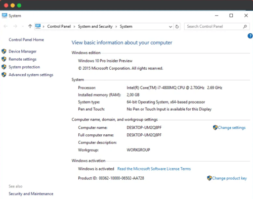 Windows 10 is now enabled