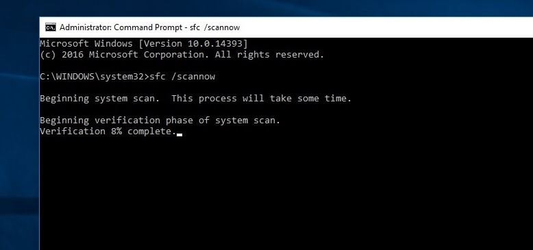 Windows 10 System File Checker