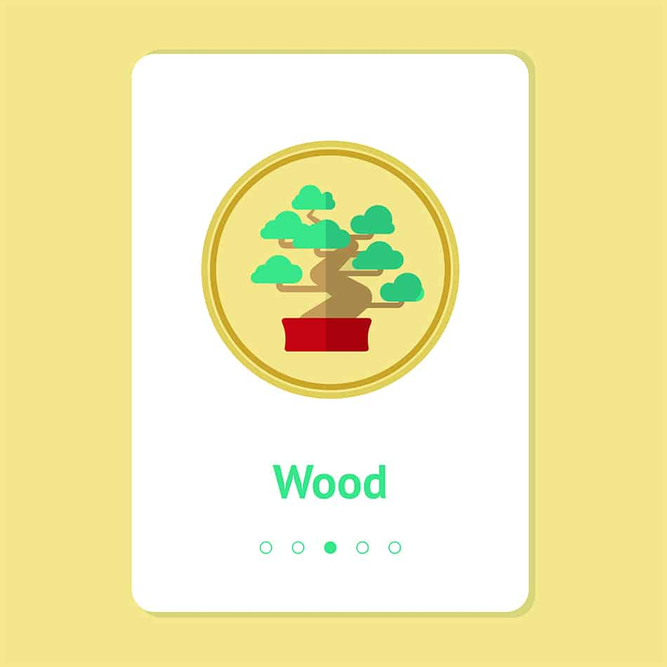 Wooden element