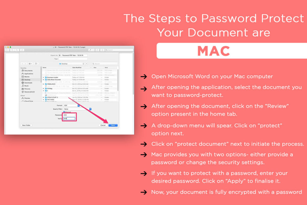 Want to Password Protect Your Document?