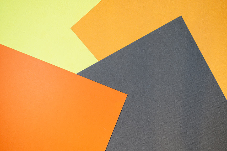 Yellow, orange and brown