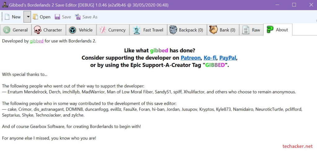 Borderlands 2 Save file editor