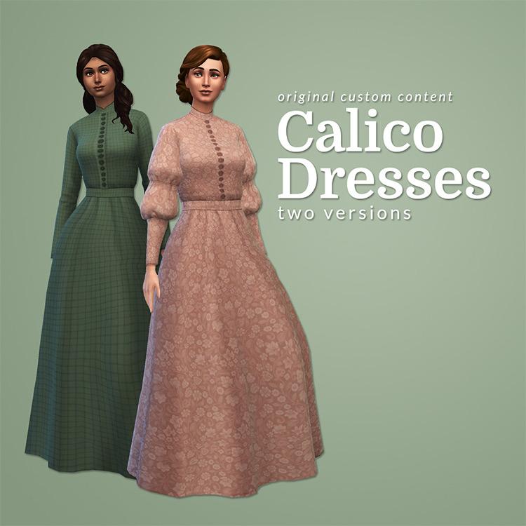 Calico dresses The Sims 4 CC