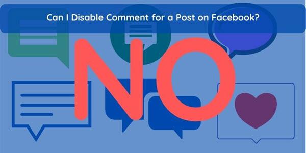 Can I disable comments on a Facebook post?