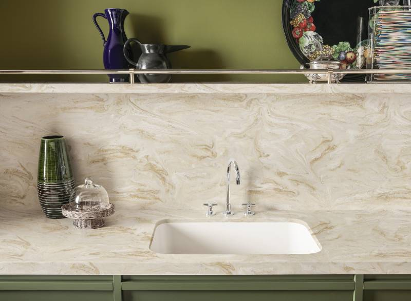 Corian with sink